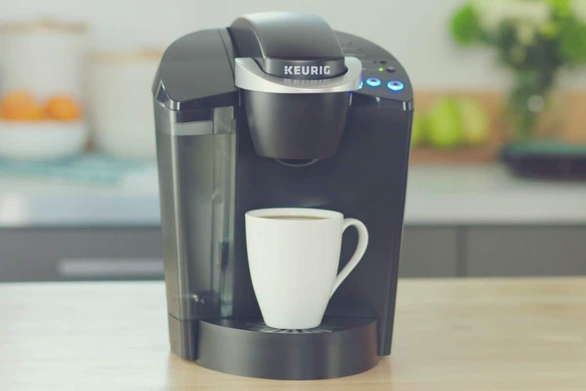 Promotional image of a Keurig K50 coffee machine