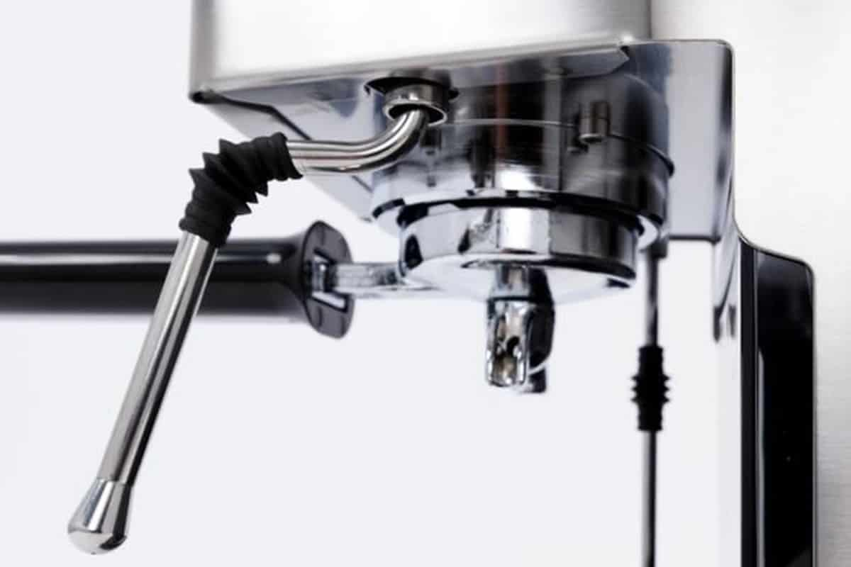 an extreme close up of the gaggia classic