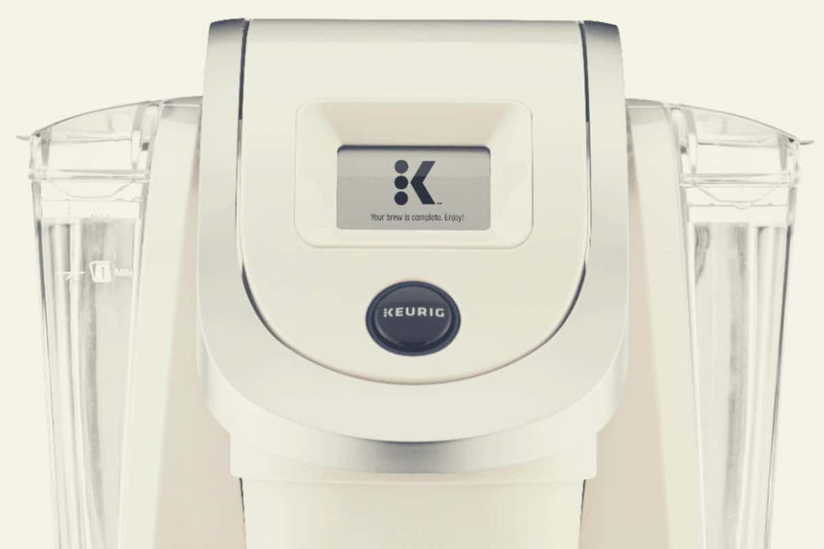 Close up of a Sandy Pearl Keurig K250