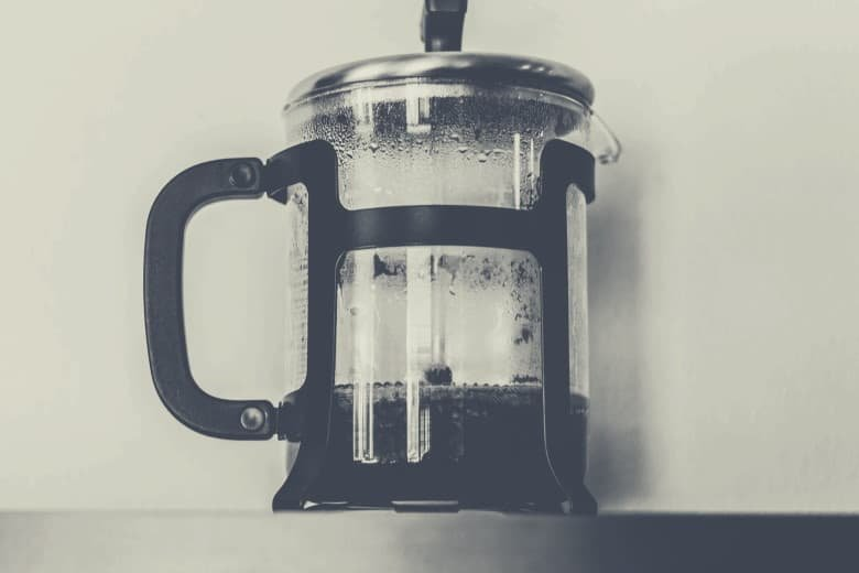 An image of a french press coffee maker