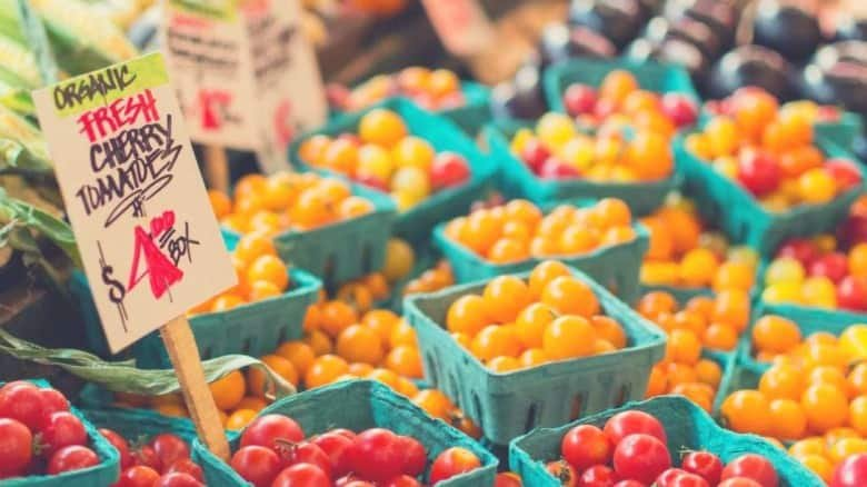 various fruits at a farmer's market