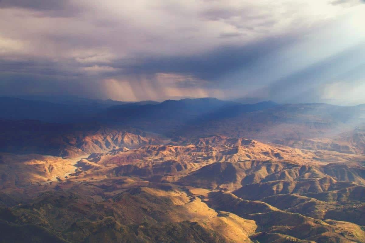 Panoramic view of Ethiopian plains
